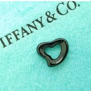Tiffany & Co Peretti Black Jade Carved Heart RARE